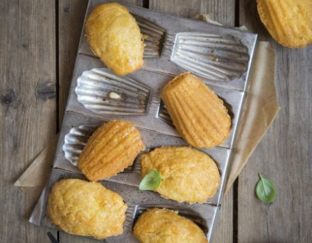 Pesto and Entremont Saint Mont des Alpes cheese madeleines