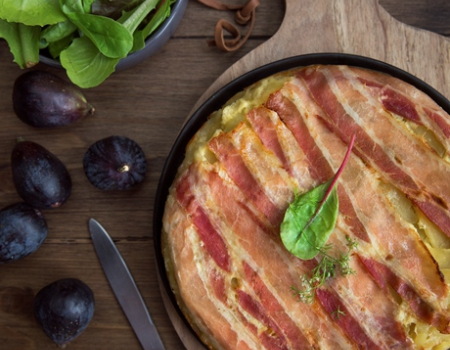 Entremont Raclette cheese tatin